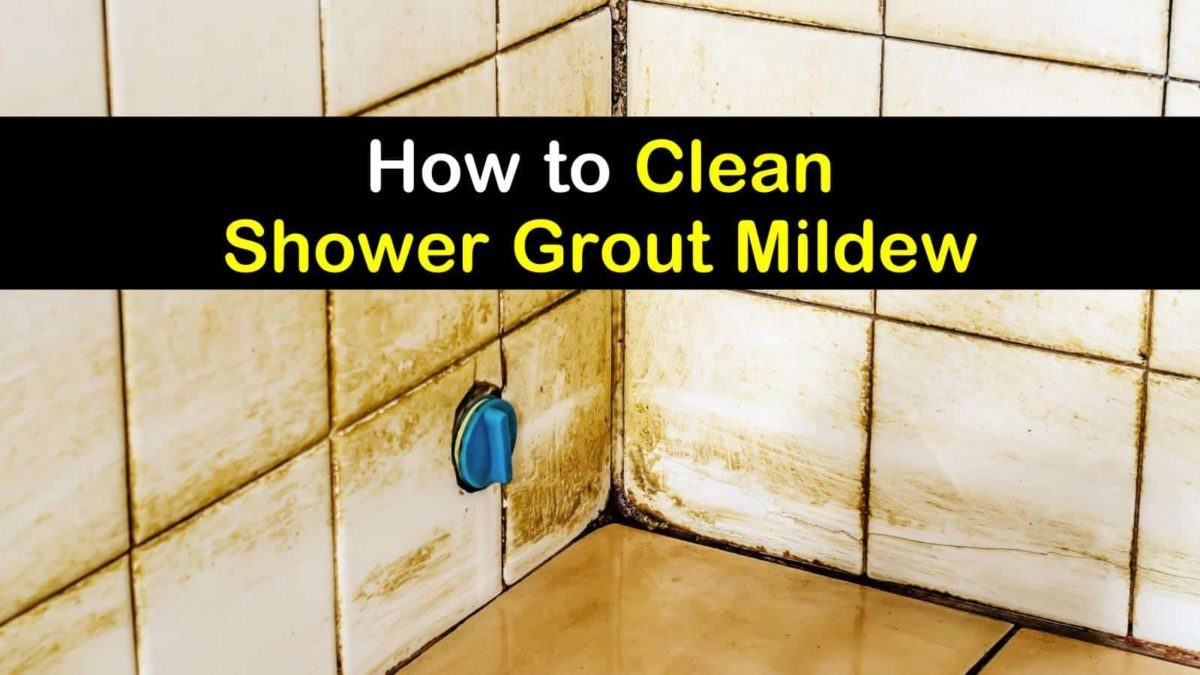 to clean shower grout mildew