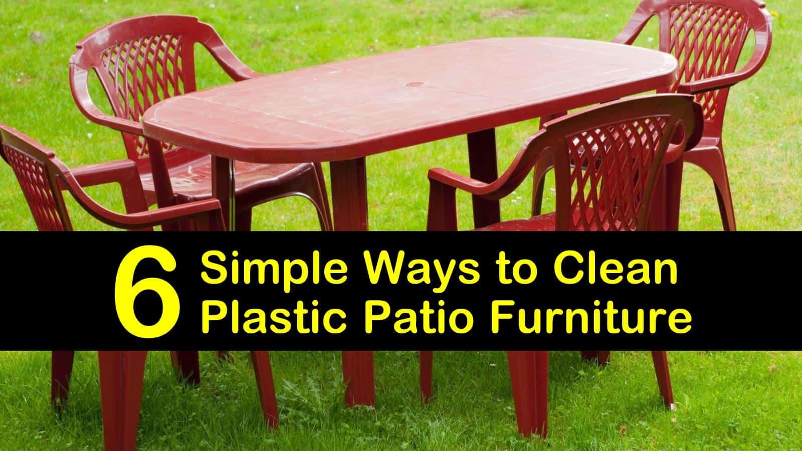 to clean plastic patio furniture