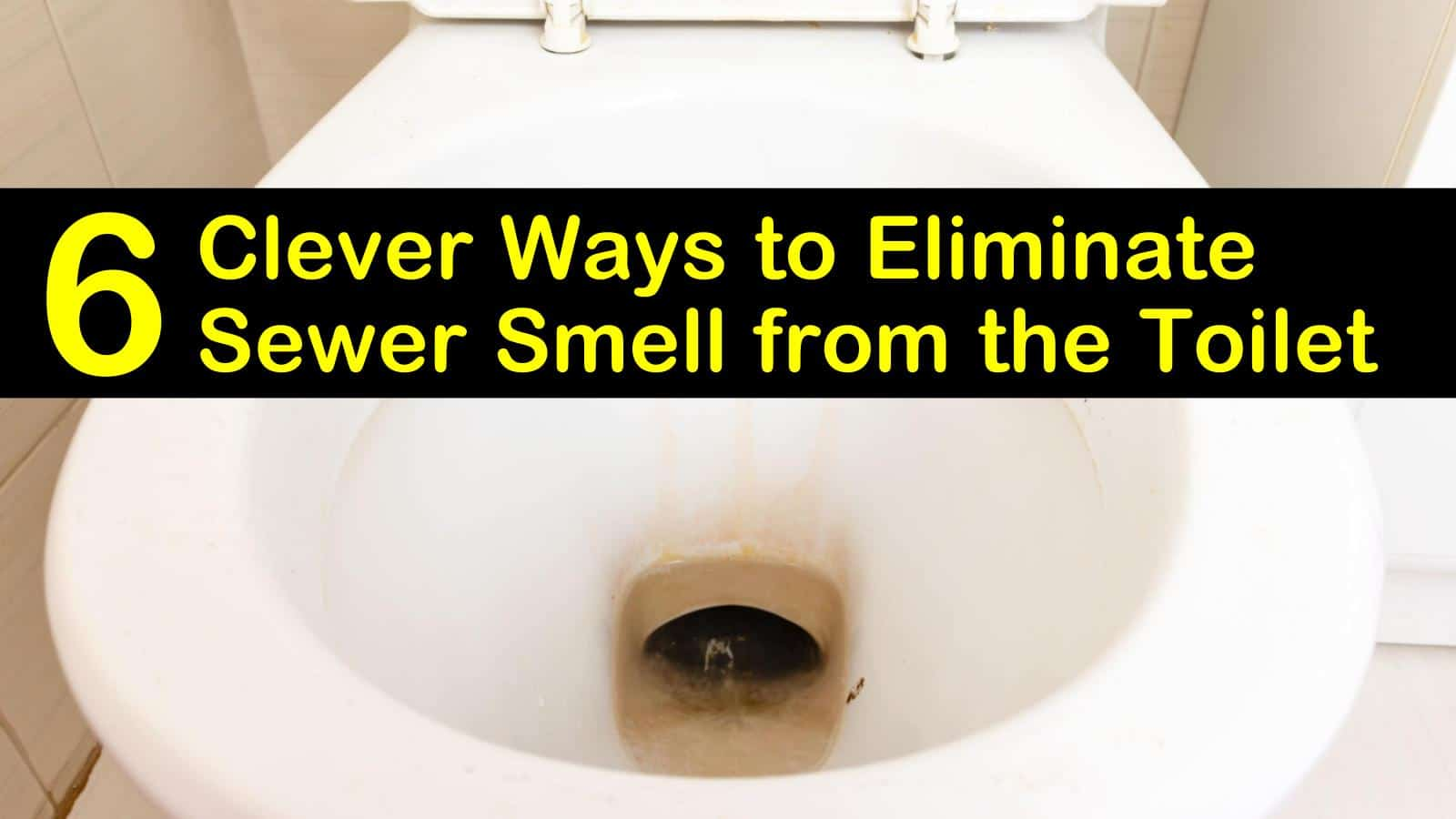 sewer smell from the toilet