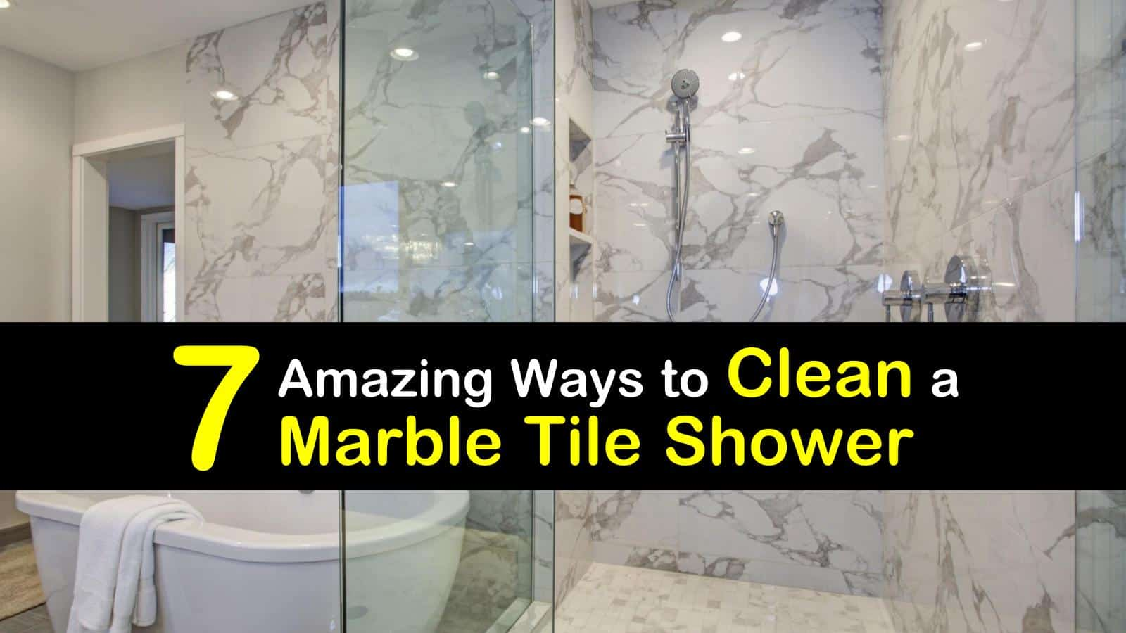 how to clean a marble tile shower