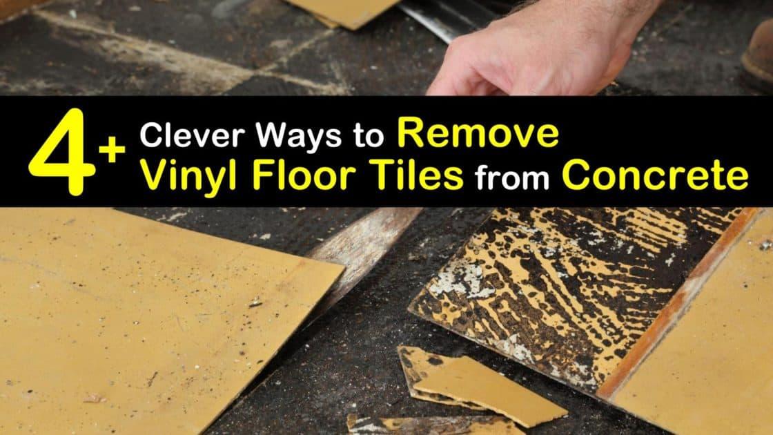to remove vinyl floor tiles from concrete