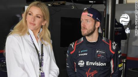 Goulding with Sam Bird, Envision Virgin Racing driver in Marrakech.