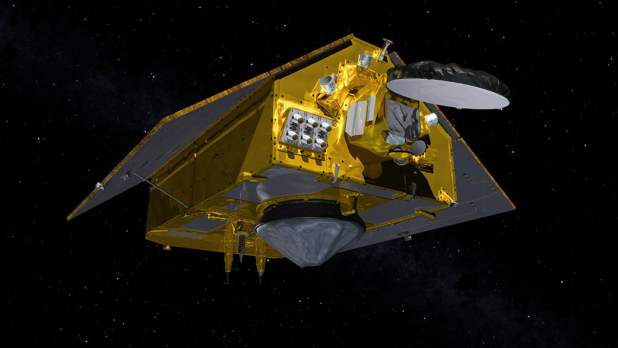 This illustration shows the front of the Sentinel-6 Michael Freilich spacecraft in orbit above Earth with its deployable solar panels extended. As the world's latest ocean-monitoring satellite, it is launching on Nov. 10, 2020, to collect the most accurate data yet on global sea level and how our oceans are rising in response to climate change.