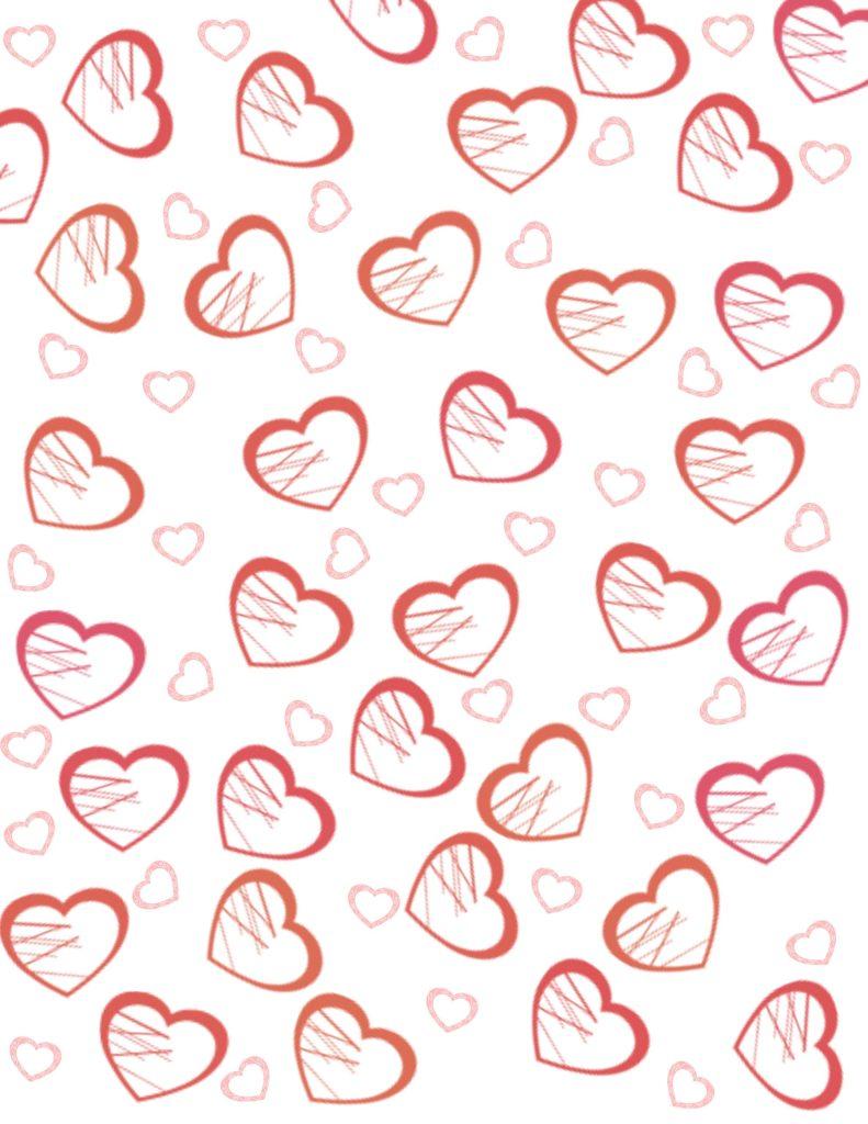 papel deco con corazones