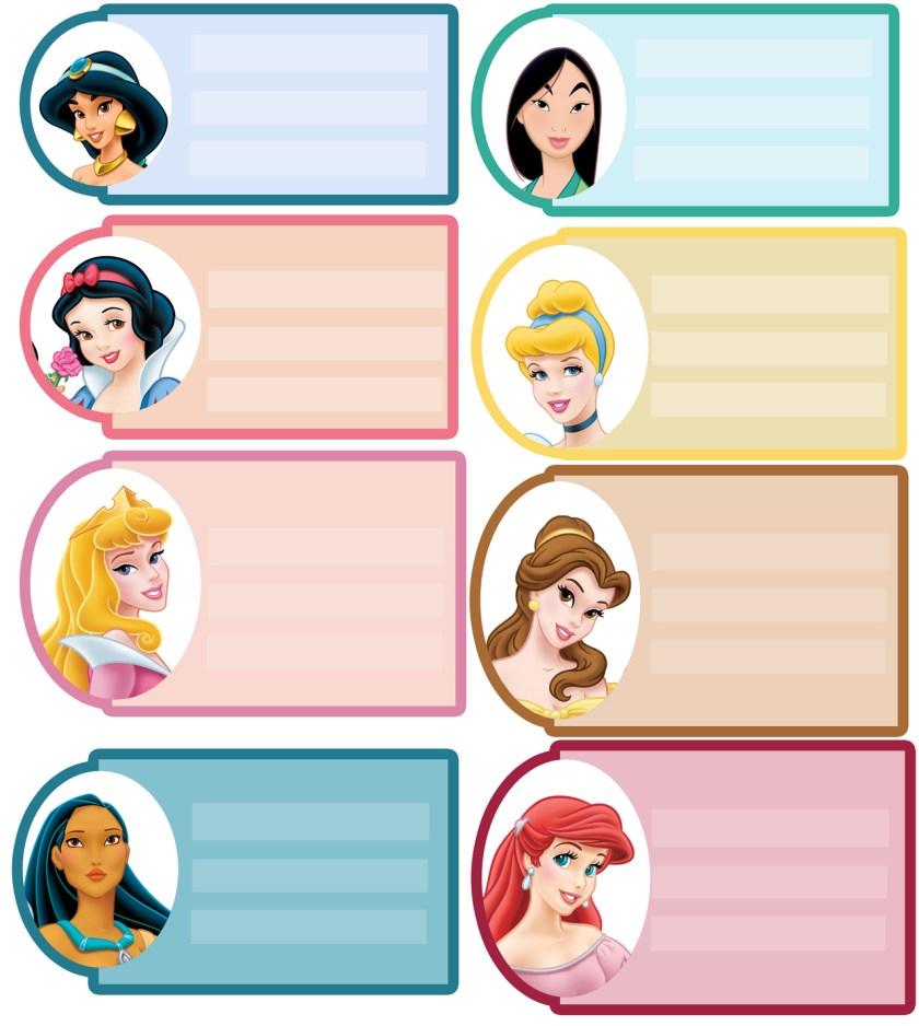 Etiqueta princesas Disney 3