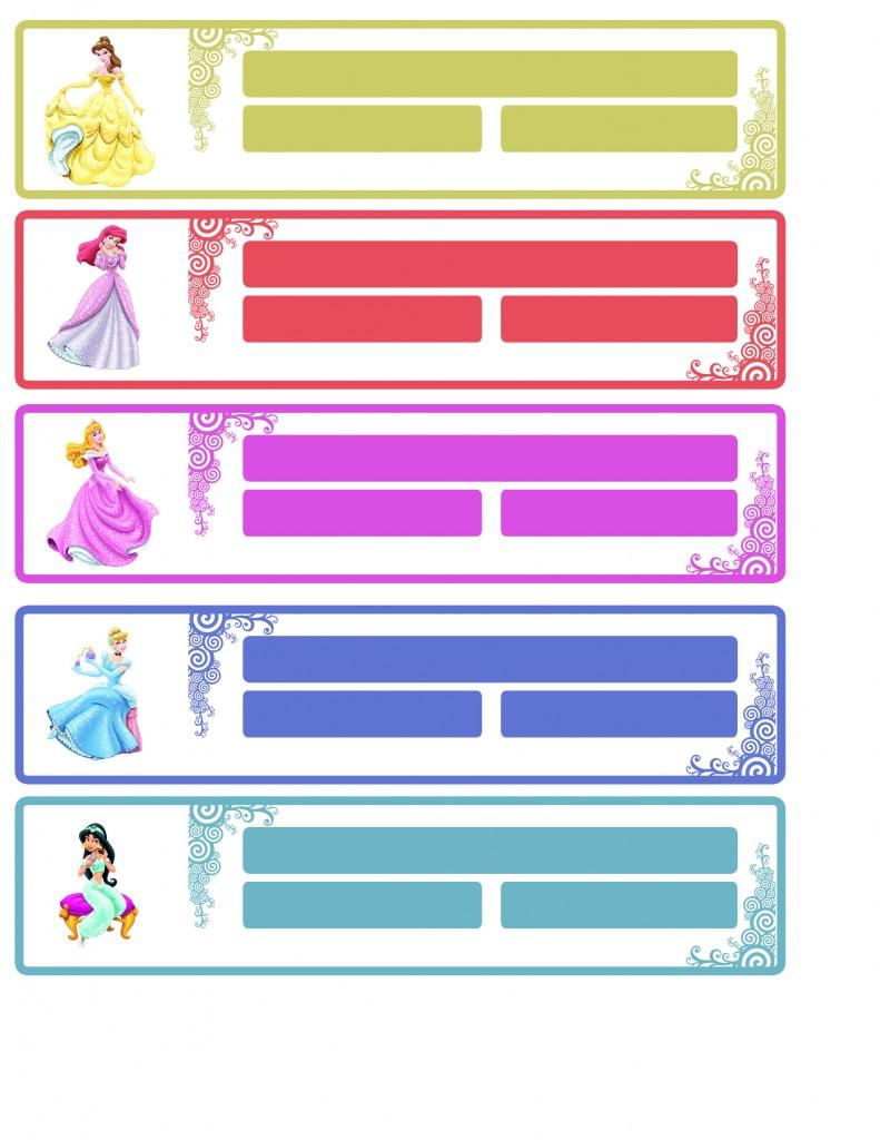 Etiqueta princesas Disney 1