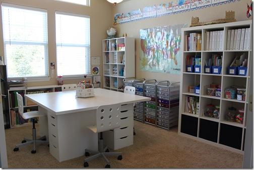 espacio de trabajo homeschool