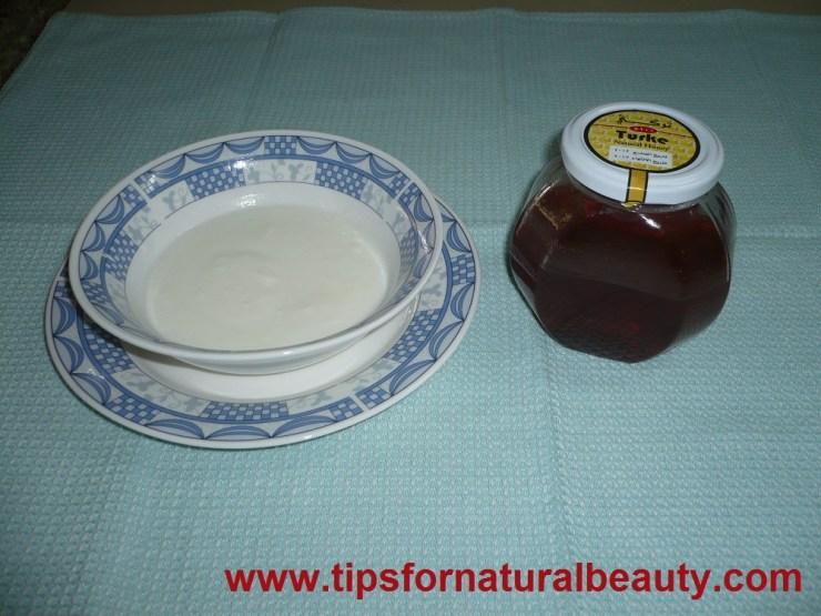 Honey and yogurt face mask
