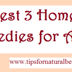 Best Three Home Remedies for Acne