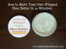 How to make whipped Shea butter cover