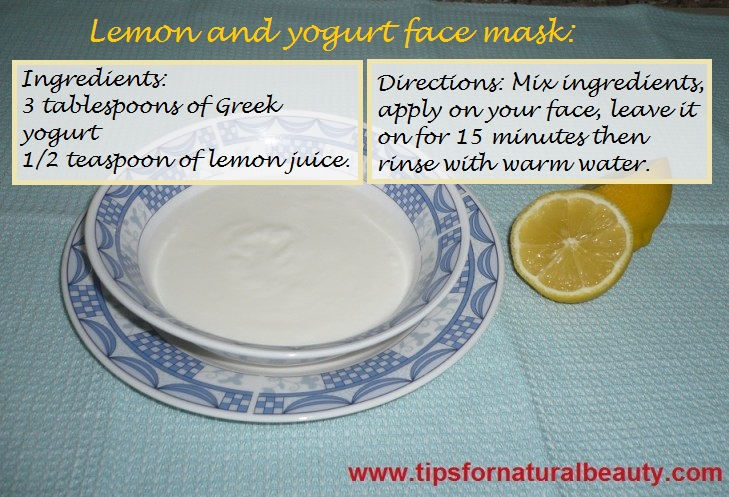 Yogurt-and-lemon-face-mask recipe