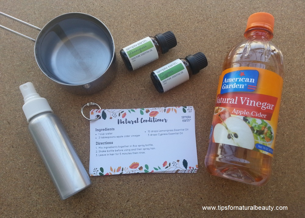 Simply Earth essential oils hair conditioner recipe
