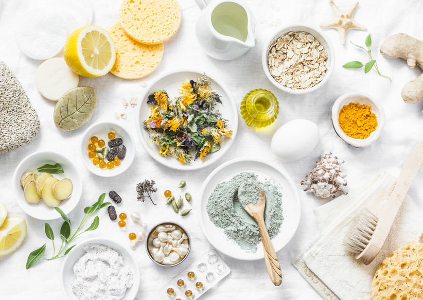 Natural ingredients for skincare and body care