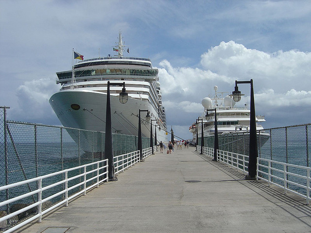 P&O Arcadia Cruise Ship at Basseterre (Capital of St Kitts)