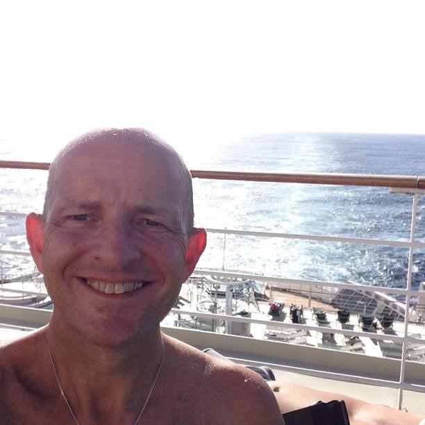 Gary Bembridge On Queen Mary 2 Deck Caribbean Sea