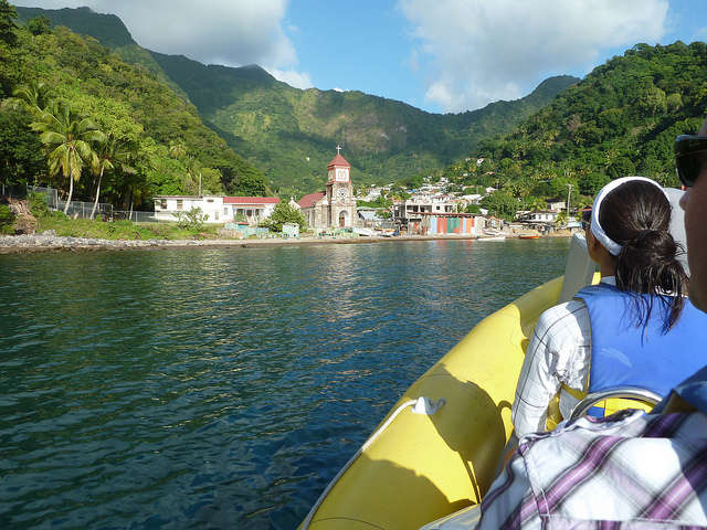 Soufriere Dominica Caribbean from the RIB Boat Excursion