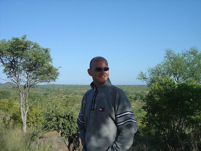 Gary Bembridge in Sabi Sands Game Reserve South Africa