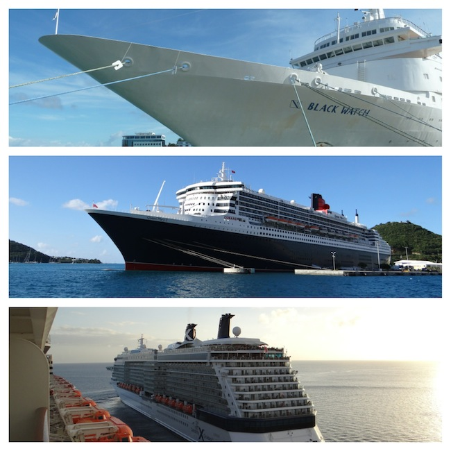 Cruise Ships: Fred Olsen, Cunard Queen Mary 2, Celebrity