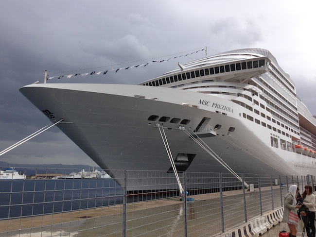 MSC Preziosa in Messina, Sicily