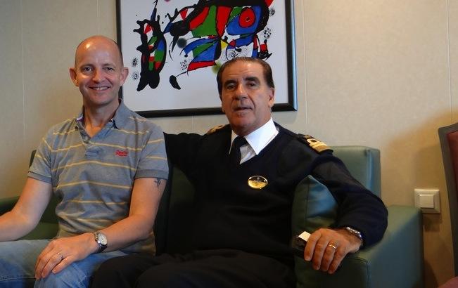 Captain Bossi MSC Preziosa