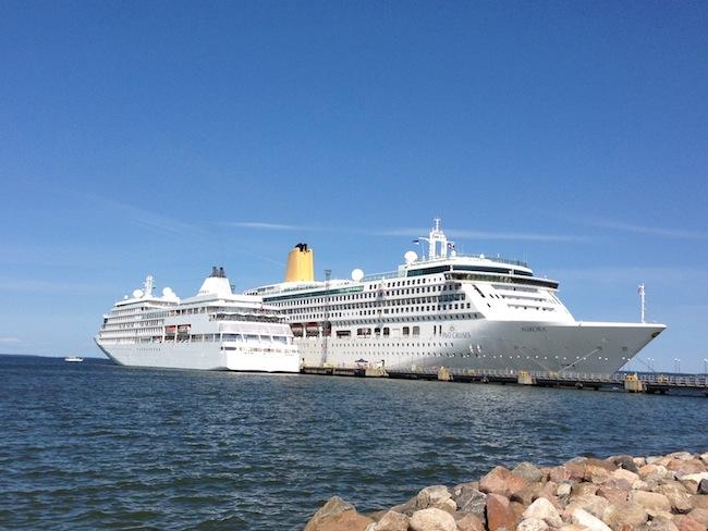 Silversea Silver Whisper and P&O Aurora Tallinn Estonia