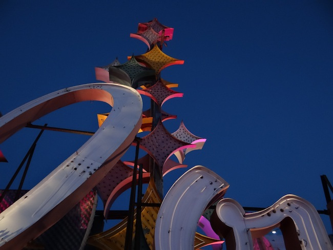 Part of the fmaous Stardust sign - Binions sign - Frontier Hotel sign - Las Vegas Neon Museum