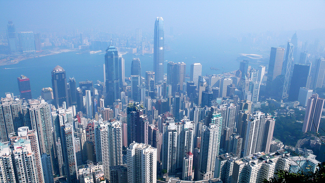 Hong Kong Skyline. Photo by Christopher Lance - http://www.flickr.com/photos/ninedragons/