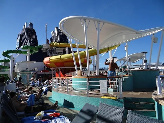 Norwegian Epic Aqua Park and Pool deck