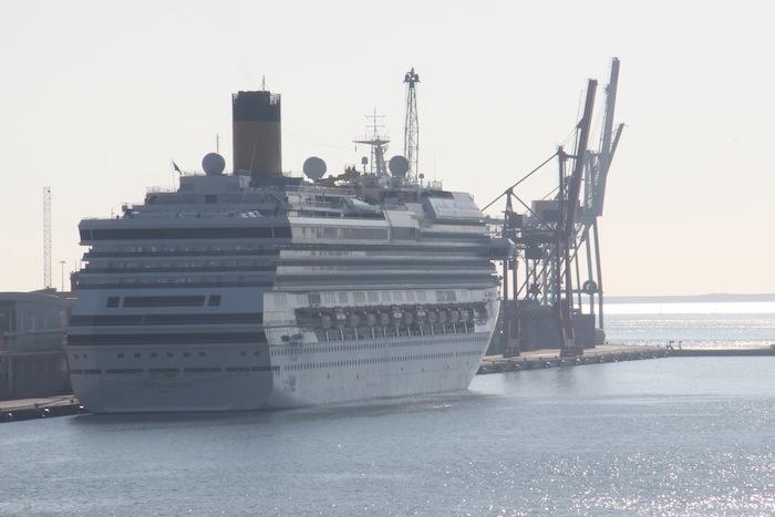 Costa Serena Cruise Ship docked in Bareclona Spain