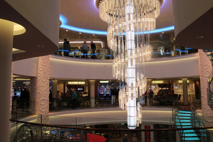 Norwegian Getaway Cruise Ship's stunning Chandelier