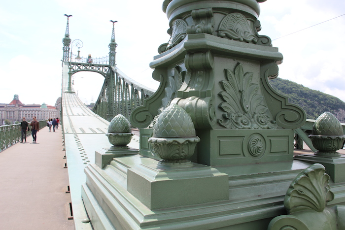 The stunning Chain Bridge in Budapest. next to where the river cruise ships dock