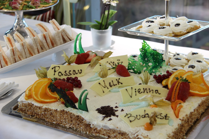 Uniworld River Beatrice Enchanting Danube Afternoon Tea Celebration Cake