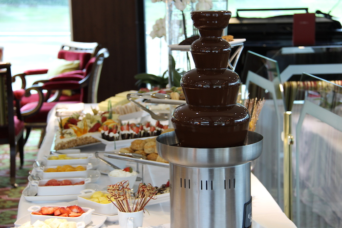 Uniworld River Beatrice Enchanting Danube Afternoon Tea Chocolate Fountain and Spread