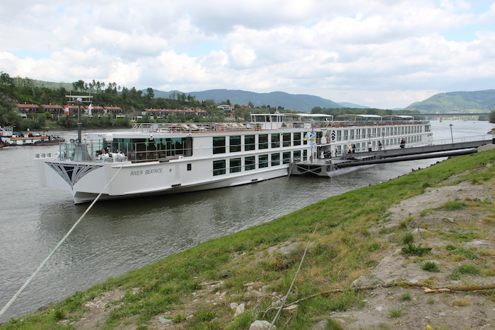 Uniworld River Beatrice docked in Melk Austria