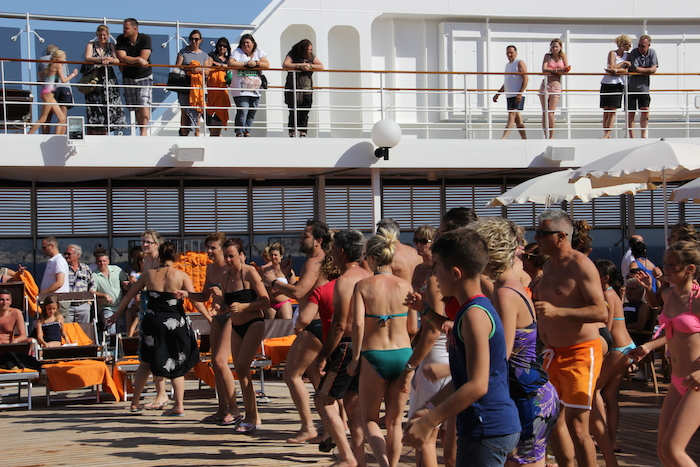 MSC Cruises Lirica Passengers would always get involved in the on-deck entertainment, dances and competitions