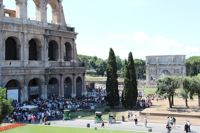 Colloseum Rome, always popular and packed with crowds