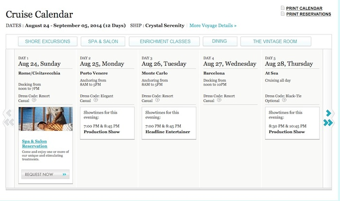 Crystal Cruises Schedule 1 copy