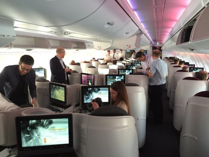 Qatar Airway A380 Business Class Cabin
