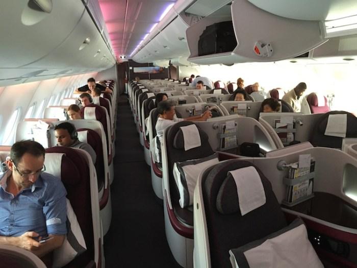 Qatar Airways A380 Business Class Cabin
