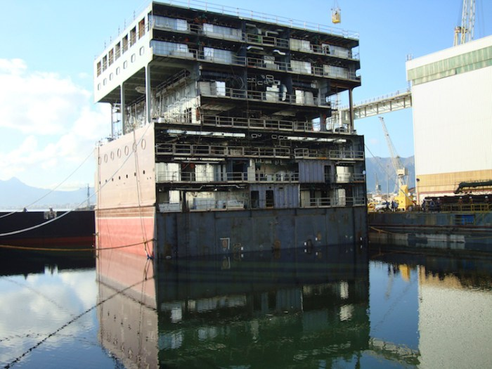 MSC Armonia new mid section before being added