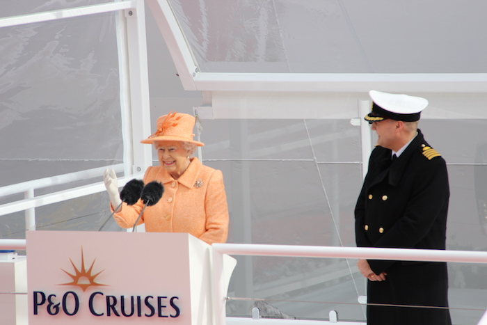 Her Majesty Queen Elizabeth Britannia Naming ceremony