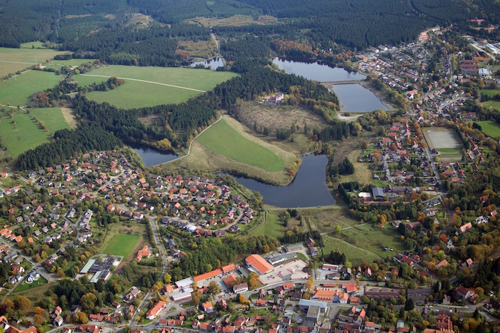 Clausthal-Zellerfeld- Upper Harz Water Management System with a view of Upper and Lower Eschenbach ponds, and Upper and Lower Hausherzberg ponds. (Picture: German Tourist Board Image Library)