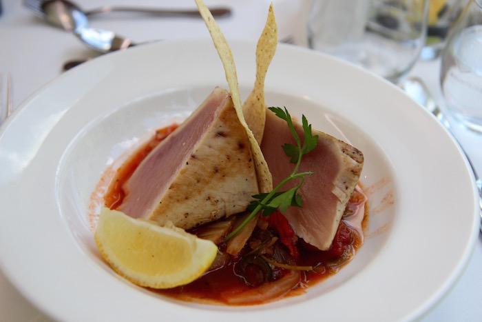 Seared Tuna Lunch Rocky Mountaineer Train
