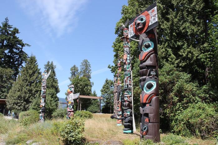 Totem Poles Stanley Park Vancouver