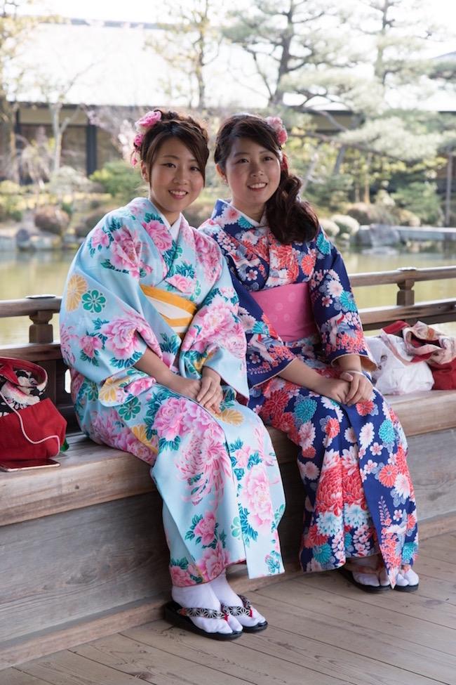 Girls dressed in Kimonos Japan