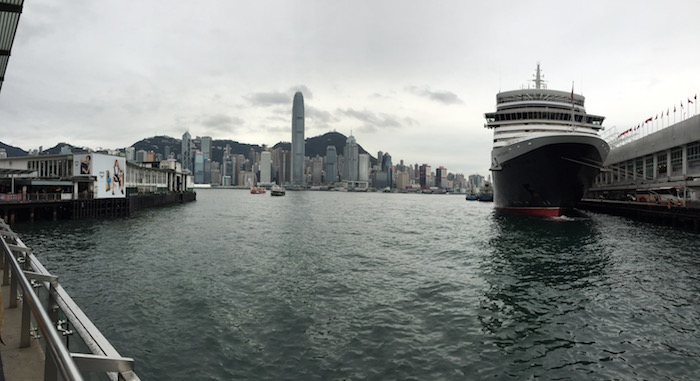Cunard Queen Elizabeth in Hong Kong