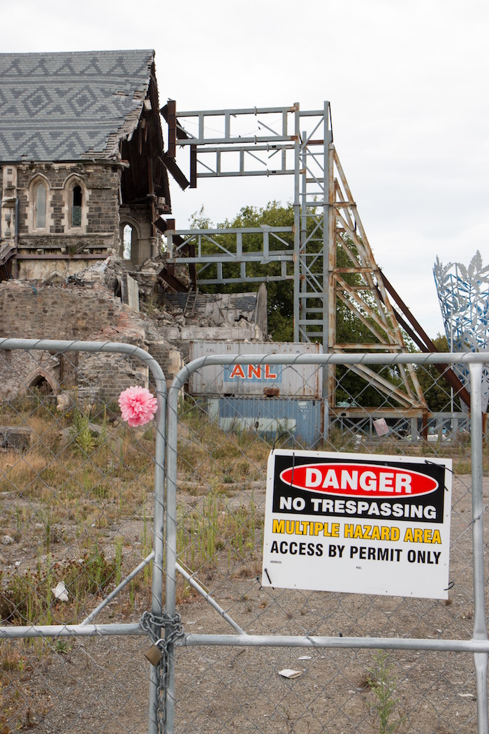 Earthquake damaged Christchurch Cathedral