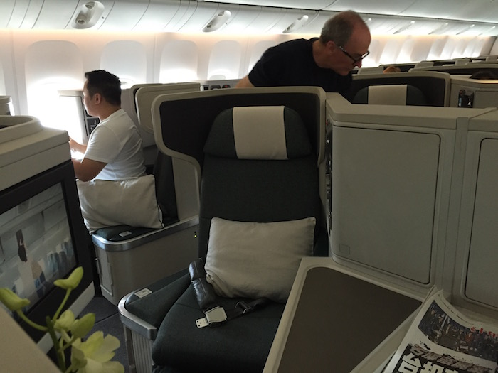 Qantas Business Class Seat