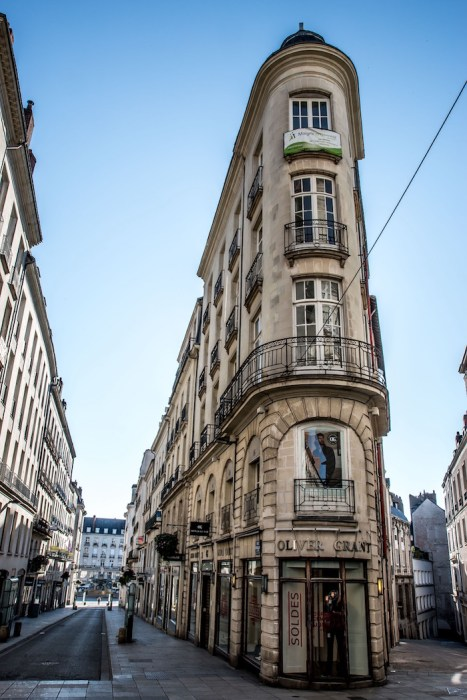 Buildings in Nantes France