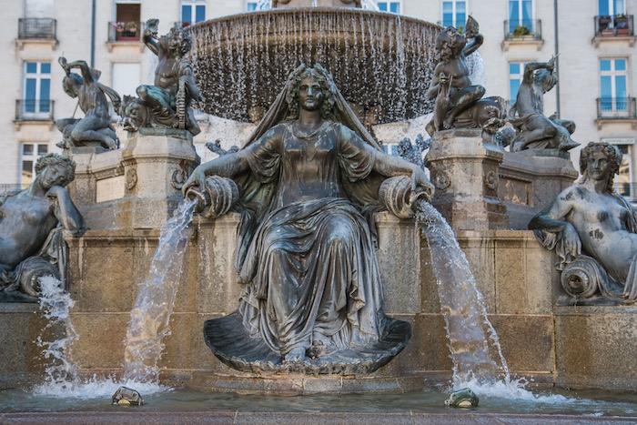 Fountain in Nantes Place Royale France